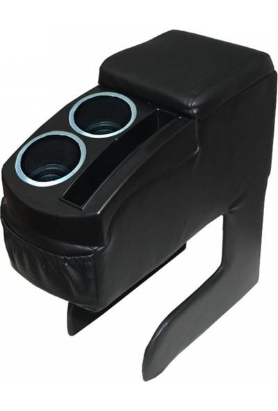 BTM Otomotiv Universal Taşlı Çift Bardaklıklı Kol Dayama Siyah