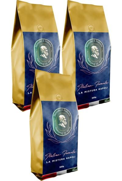Socrates Filtre Kahve 500 gr Napoli 3'lü Set