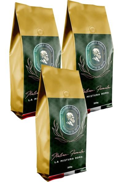 Socrates Filtre Kahve 500 gr Roma 3 Lü