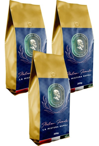 Socrates Filtre Kahve 200 gr Napoli 3'lü Set