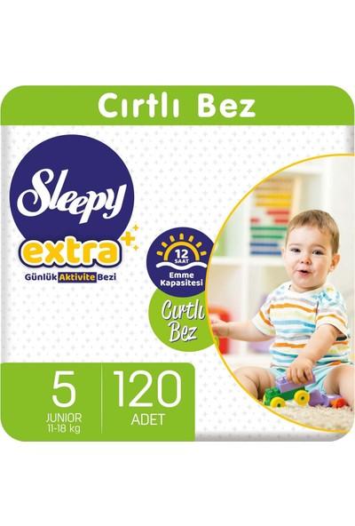 Sleepy Extra Günlük Aktivite Bebek Bezi 5 Numara 11-18 Kg Junior 120 Adet