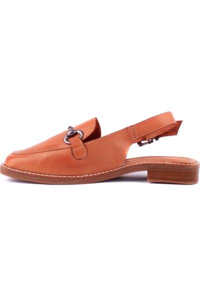 Messimod - Taba Deri Kadın Sandalet