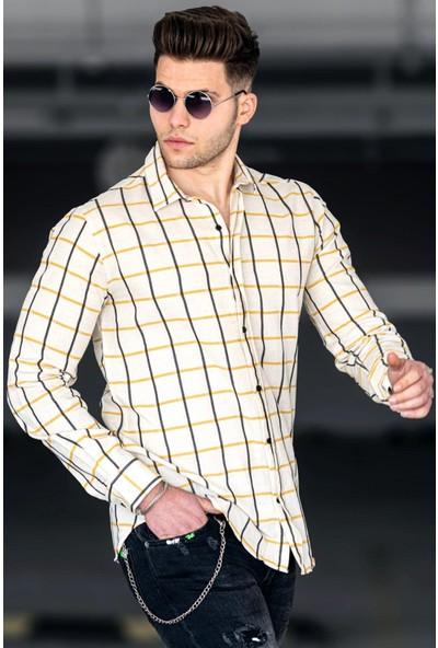 Madmext Sarı Erkek Gömlek 4938