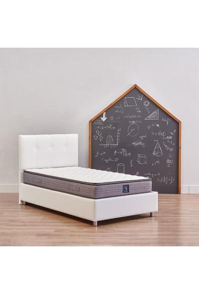 Yataş Bedding Nova Sandıklı Yatak Baza Başlık Genç Seti - Fresh Sense Yatak - (Tek Kişilik 120x200 cm - Beyaz)