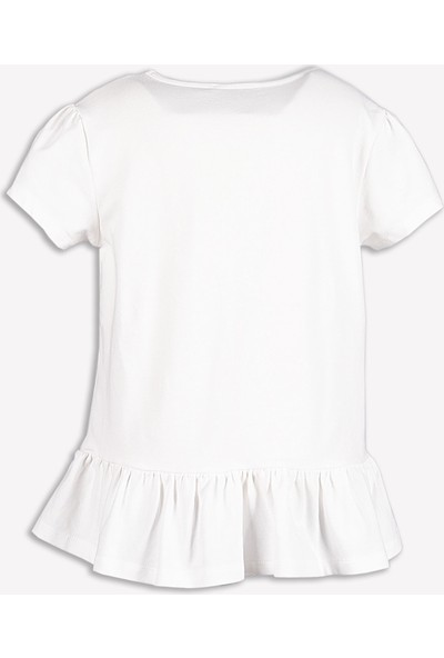 Ozmoz Etek Ucu Fırfırlı Kız Çocuk Tunik -Tshirt