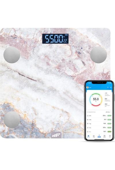 MF Product Allure 0532 Vücut Analizli Akıllı Tartı Marble Venüs