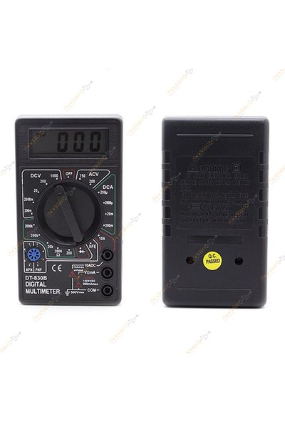 Wozlo Dijital Ölçü Aleti Multimetre Avometre Ampermetre Voltmetre