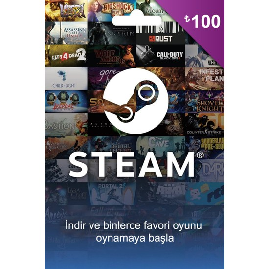 Steam 100 TL'Lik Cüzdan Kodu