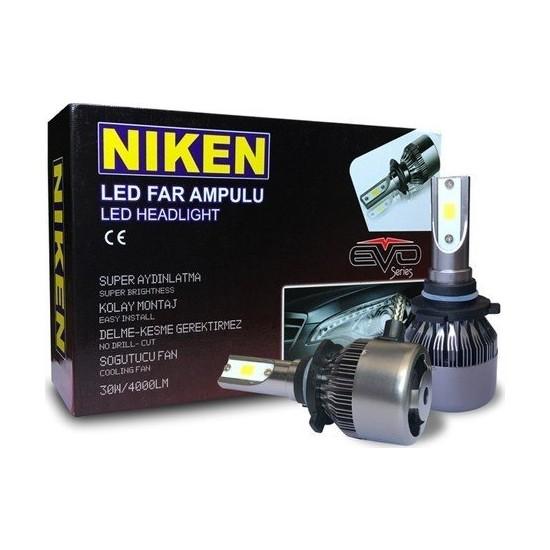 Niken 9006 LED Xenon Far Aydınlatma Seti Şimşek Etkili Niken Evo 8000LM