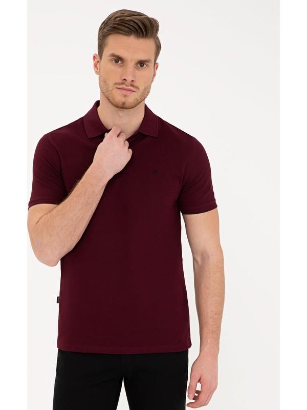 Pierre Cardin Bordo Slim Fit Polo Yaka T-Shirt 50239843-VR014