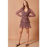 Never More Fırfırlı İp Detay Mini Elbise