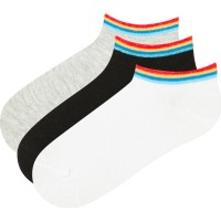 Çok Renkli Erkek Çocuk 3lü Patik Çorap