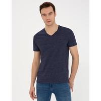 Pierre Cardin Lacivert Slim Fit V Yaka Basic T-Shirt 50239847-VR033