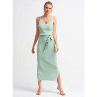 Dilvin 2616 Askılı Elbise-Mint
