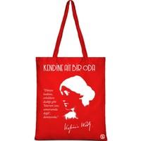 Sia Kitap Virginia Woolf Kırmızı Bez Çanta