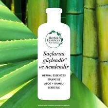 Herbal Essences Sülfatsız Güç ve Nem Aloe + Bambu Şampuan 2 x 380 ml