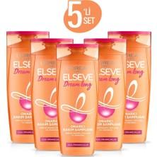 Elseve Dream Long Onarıcı Bakım Şampuanı 360 ml 5'li Seti