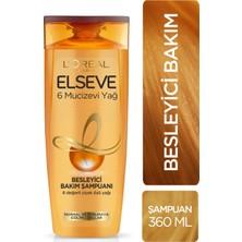 Elseve 6 Mucizevi Yağ Bakım Şampuanı 360 ml 5'li Seti