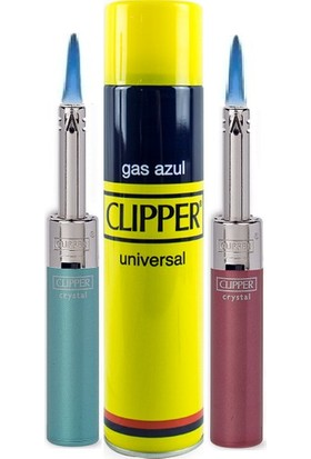 Clipper Mini Tube Çakmak 2'li + Clipper Çakmak Gazı