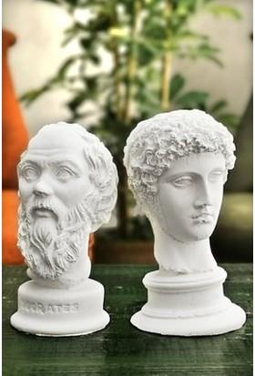 Ordo Veni Hermes ve Sokrates 2'li Büst