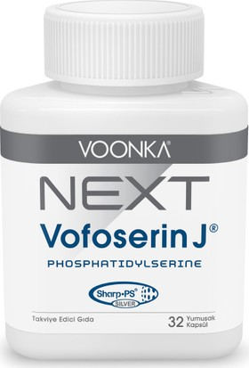 Voonka Next Vofoserin J® - Balık Yağı Epa&dha, Fosfotidilserin ve Fosfotidilkolin Içeren Takviye Edici Gıda