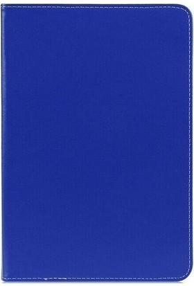 "Creftowl Samsung Galaxy Tab 4 T705 8"" Uyumlu Dönerli Standlı Deri Tablet Kılıfı-Nano Cam Lacivert"