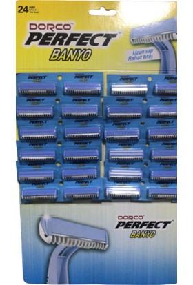 Dorco Perfect Uzun Saplı Rahat Banyo Tıraş Bıçağı / 24 Adet