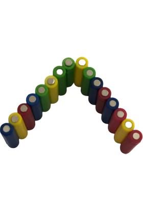 Hdg Pano Mıknatısı - Çift Yönü Neodyum Mıknatıslı - Karışık Renkler