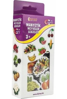Hobialem Diytoy, Manyetik Meyveler ve Sebzeler, 26 Parçalı, Magnet Meyve, Mıknatıslı Figürler