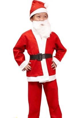 Pandoli Erkek Çocuk Noel Baba Kıyafeti 7-9 Yaş