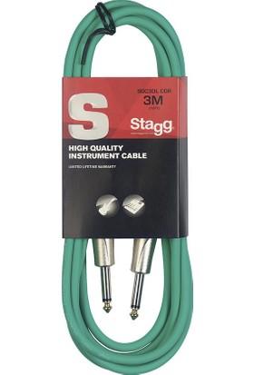 Stagg SGC3DL Cgr 3 Metre Yeşil Enstrüman Kablosu