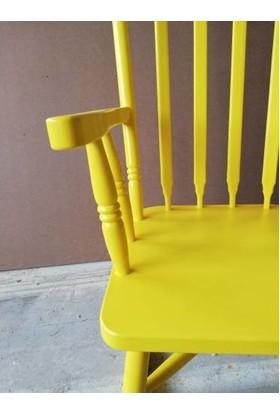 Zerka Rengin Sarı Sallanan Sandalye & Tv Koltuğu