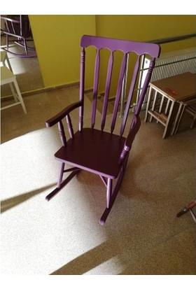 Zerka Rengin Mor Sallanan Sandalye & Tv Koltuğu