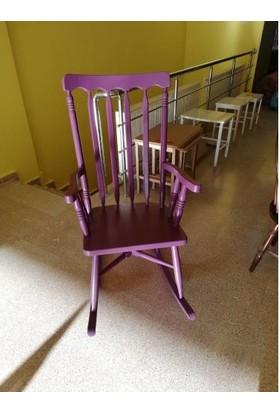 Zerka Rengin Mor Sallanan Sandalye & Tv Koltuğu Minderli