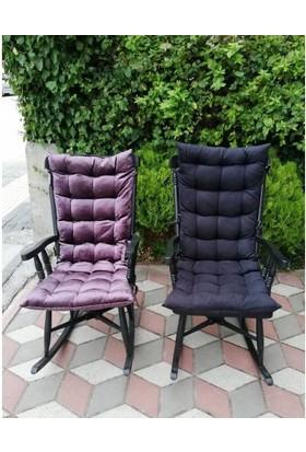 Zerka Rengin Siyah Sallanan Sandalye & Tv Koltuğu Minderli