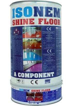Isonem Shine Floor Parlak Zemin Kaplaması Kırmızı 4.5 kg Set