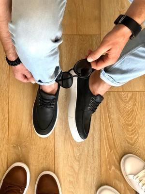 Knack Günlük Ayakkabı T12 Siyah (Beyaz Taban)
