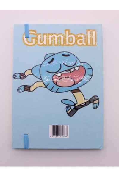 Star Global Lastikli Noktalı Sert Kapak Darwin ve Gumball Defter