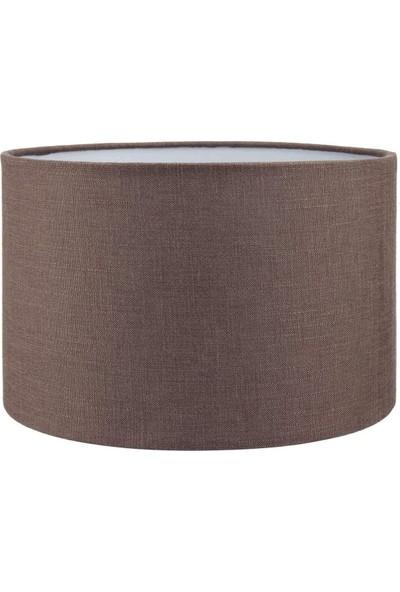 Lit Dizayn Abajur Başlık Kahve Silindir Yuvarlak Şapka 25X25X15 cm Dekoratif Özel Yüksek Kalite Kumaş