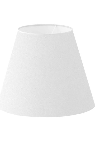 Lit Dizayn Abajur Başlık Beyaz Konik Şapka 25X15X20 cm Dekoratif Özel Yüksek Kalite Kumaş