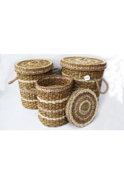 Sever Home Matia Concept Seagrass Hasır Çamaşır Sepeti Büyük Boy 57 cm