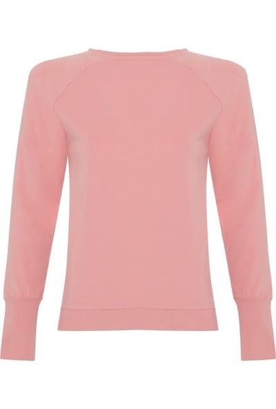 New Balance WTH2024-PNK Sweatshirt Pembe