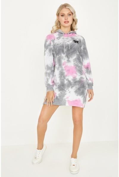 Select Kadın Renkli Sweat Elbise S052/0402/047 46 - Renkli