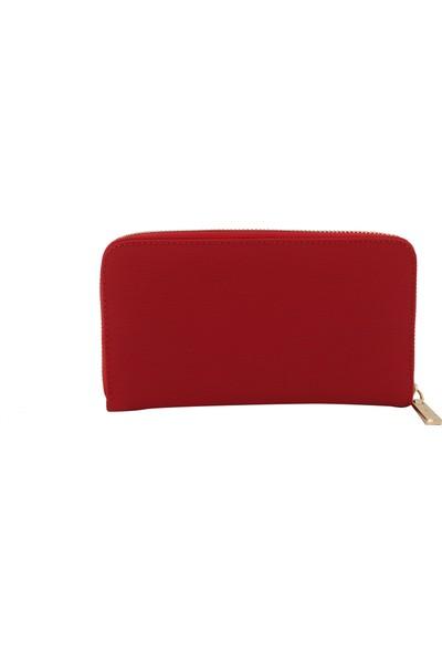 Onix Hmx Polo Kırmızı Lacoste Baskı Kadın Cüzdan 1010