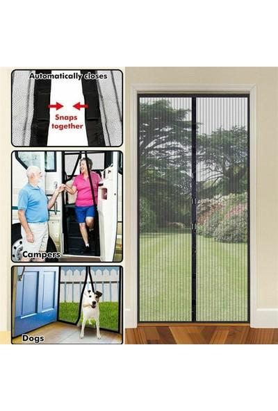 5dm Pratik Manyetik Mıknatıslı Siyah Kapı Sinekliği Tülü 90 x 210 cm