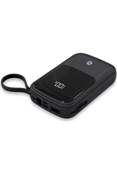 Dexim K23 LED Ekranlı, 3 In 1 Kablolu 10.000MAH Powerbank DCA0039