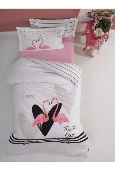 Soley Flamingo Love Pembe Rnf Genç Dört Mevsim Set