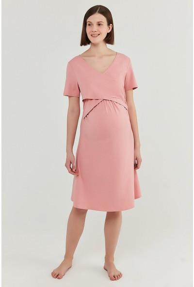 Gül Kurusu Mama Pink Envelope Elbise