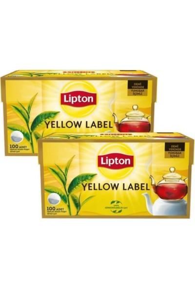 Lipton Yellow Label Demlik Poşet Çay 100'LÜ x 2 Li