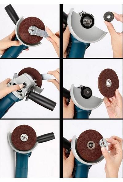 Depolife Matkap Için Disk Bağlama Adaptör Seti Somunlu Matkaba Disk Bağla Montaj Seti Taşlama Somunu Cırt Tab